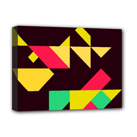 Shapes In Retro Colors 2 Deluxe Canvas 16  X 12  (stretched)  by LalyLauraFLM