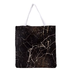 Spider Web Print Grunge Dark Texture Grocery Tote Bag by dflcprints
