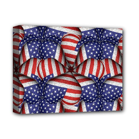 Modern Usa Flag Pattern Deluxe Canvas 14  X 11  (framed) by dflcprints