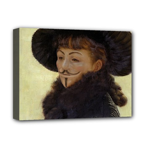 Kathleen Anonymous Ipad Deluxe Canvas 16  X 12  (framed)  by AnonMart