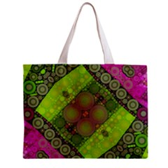 Florescent Pink Green  Tiny Tote Bag by OCDesignss