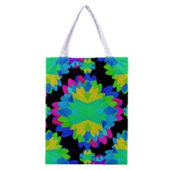 Multicolored Floral Print Geometric Modern Pattern Classic Tote Bag by dflcprints
