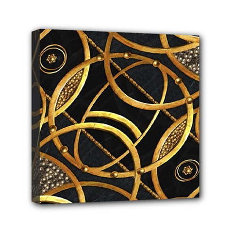 Futuristic Ornament Decorative Print Mini Canvas 6  X 6  (framed) by dflcprints