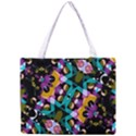 Digital Futuristic Geometric Pattern Tiny Tote Bag View1