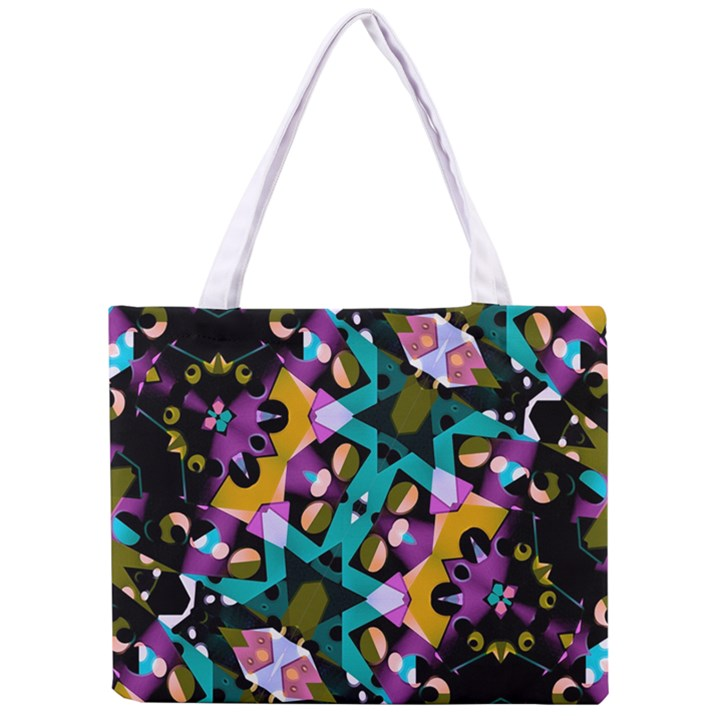 Digital Futuristic Geometric Pattern Tiny Tote Bag