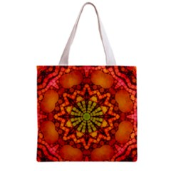Florescent Abstract Grocery Tote Bag