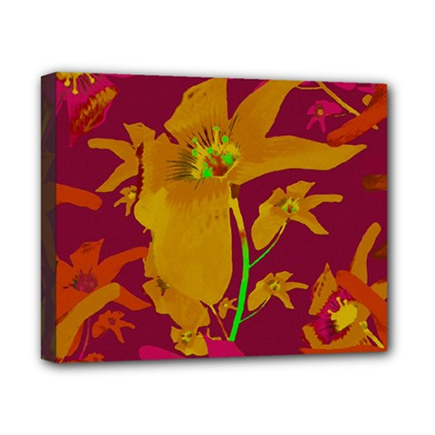 Tropical Hawaiian Style Lilies Collage Canvas 10  X 8  (framed) by dflcprints