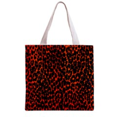 Florescent Leopard Print  Grocery Tote Bag by OCDesignss