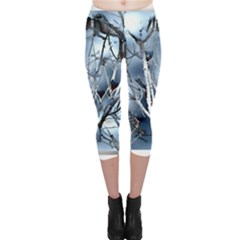 Abstract Of Frozen Bush Capri Leggings  by canvasngiftshop