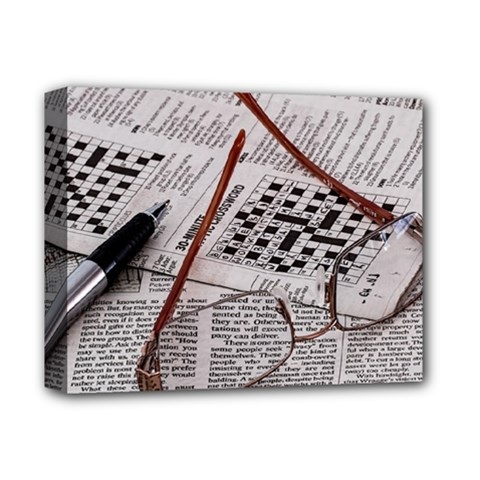 Crossword Genius Deluxe Canvas 14  X 11  (framed) by StuffOrSomething