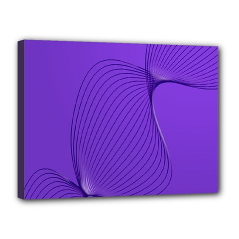 Twisted Purple Pain Signals Canvas 16  X 12  (framed) by FunWithFibro
