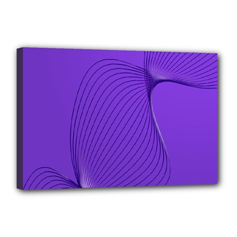 Twisted Purple Pain Signals Canvas 18  X 12  (framed) by FunWithFibro