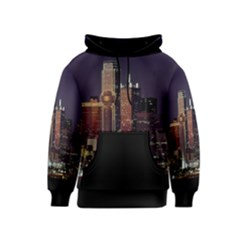 Dallas Skyline At Night Kid s Pullover Hoodie by StuffOrSomething