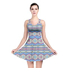 Aztec Style Pattern In Pastel Colors Reversible Skater Dress