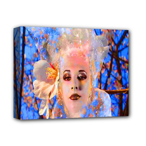 Magic Flower Deluxe Canvas 14  X 11  (framed) by icarusismartdesigns