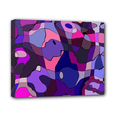 Blue Purple Chaos Canvas 10  X 8  (stretched) by LalyLauraFLM
