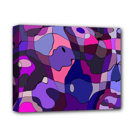 Blue Purple Chaos Deluxe Canvas 14  X 11  (stretched) by LalyLauraFLM