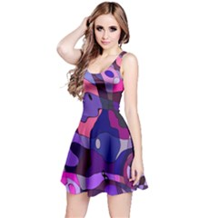 Blue Purple Chaos Sleeveless Dress