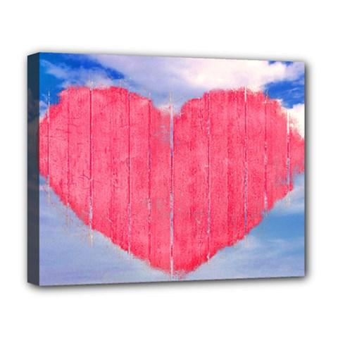 Pop Art Style Love Concept Deluxe Canvas 20  X 16  (framed) by dflcprints