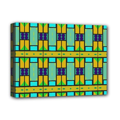 Different Shapes Pattern Deluxe Canvas 16  X 12  (stretched)  by LalyLauraFLM