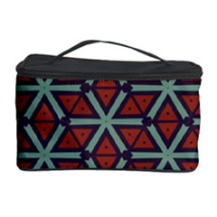 Cubes Pattern Abstract Design Cosmetic Storage Case by LalyLauraFLM