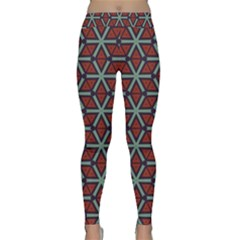 Cubes Pattern Abstract Design Yoga Leggings by LalyLauraFLM