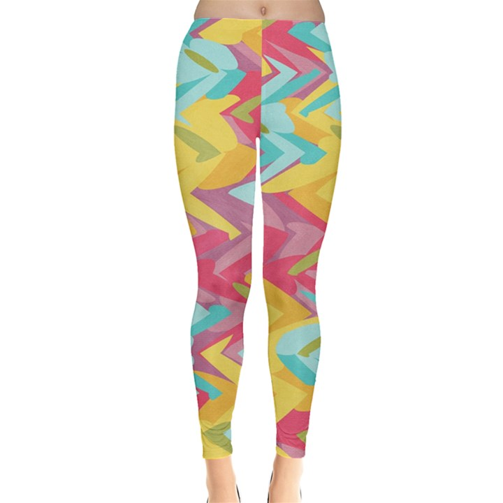 Paint strokes abstract design Leggings
