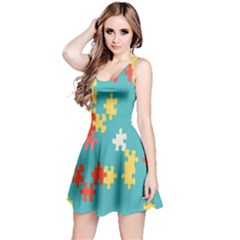 Puzzle Pieces Sleeveless Dress