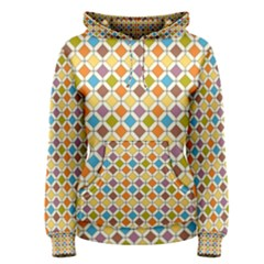 Colorful Rhombus Pattern Women s Pullover Hoodie by LalyLauraFLM