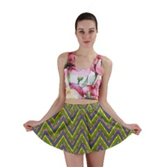 Zig Zag Pattern Mini Skirt