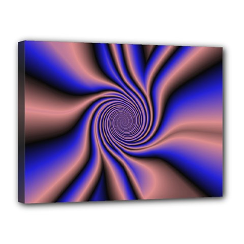 Purple Blue Swirl Canvas 16  X 12  (stretched) by LalyLauraFLM