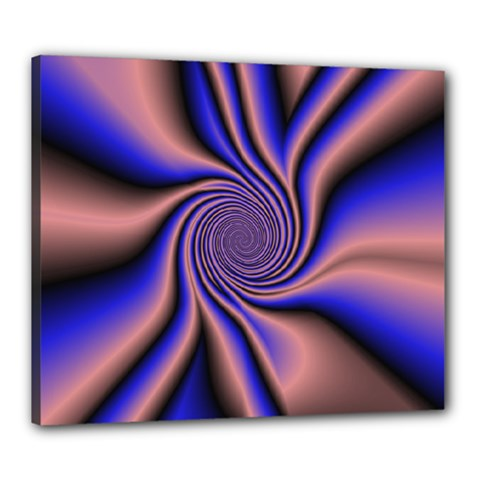 Purple Blue Swirl Canvas 24  X 20  (stretched) by LalyLauraFLM