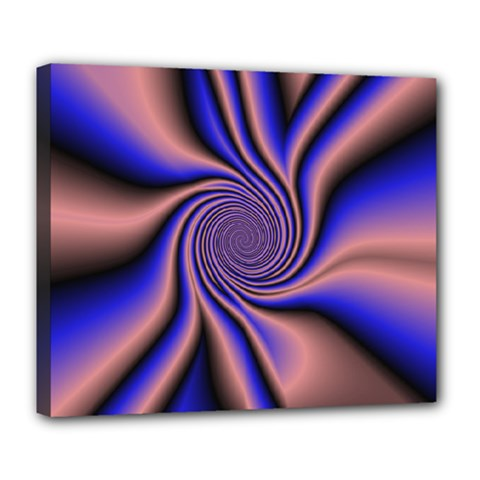 Purple Blue Swirl Deluxe Canvas 24  X 20  (stretched) by LalyLauraFLM
