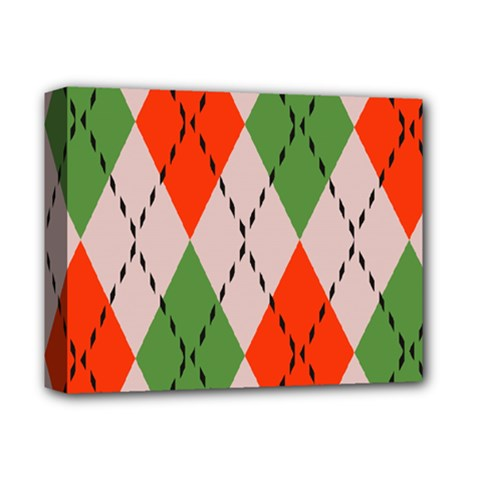 Argyle Pattern Abstract Design Deluxe Canvas 14  X 11  (stretched) by LalyLauraFLM