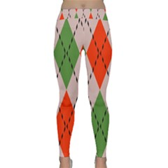 Argyle Pattern Abstract Design Yoga Leggings by LalyLauraFLM