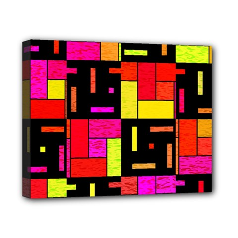 Squares And Rectangles Canvas 10  X 8  (stretched) by LalyLauraFLM