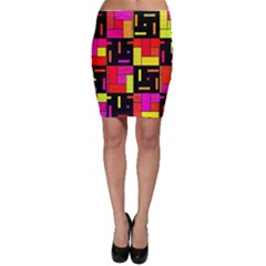 Squares And Rectangles Bodycon Skirt by LalyLauraFLM