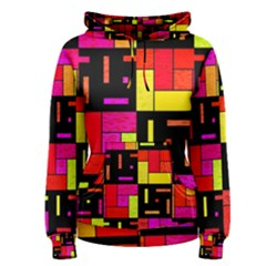 Squares And Rectangles Pullover Hoodie by LalyLauraFLM