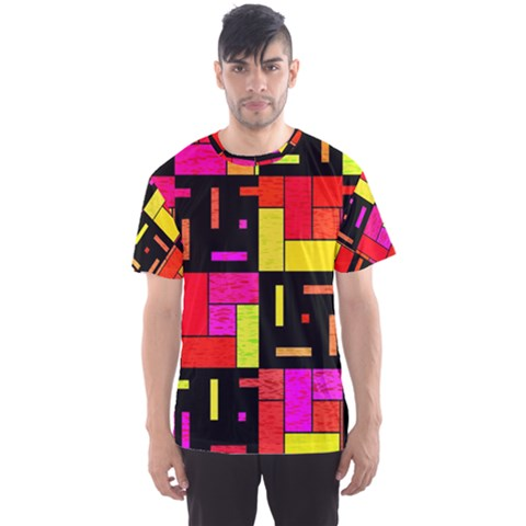 Squares And Rectangles Men s Sport Mesh Tee by LalyLauraFLM
