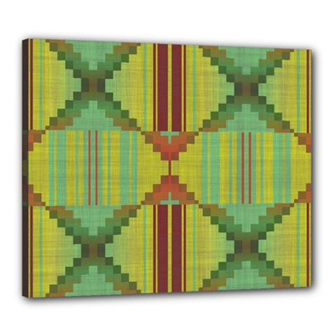 Tribal Shapes Canvas 24  X 20  (stretched) by LalyLauraFLM
