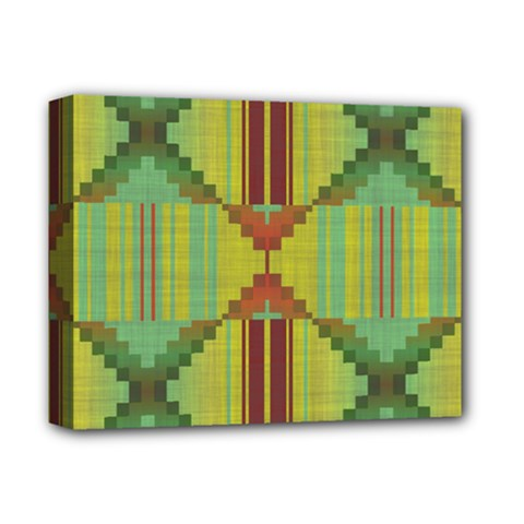 Tribal Shapes Deluxe Canvas 14  X 11  (stretched) by LalyLauraFLM