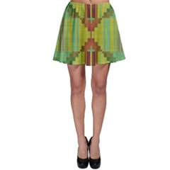 Tribal Shapes Skater Skirt by LalyLauraFLM