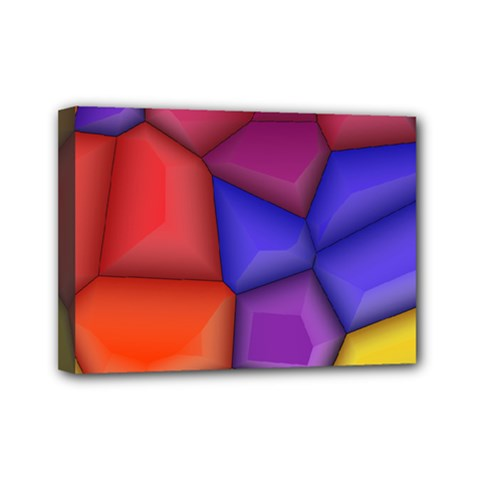 3d Colorful Shapes Mini Canvas 7  X 5  (stretched) by LalyLauraFLM