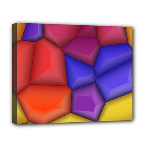3d Colorful Shapes Deluxe Canvas 20  X 16  (stretched) by LalyLauraFLM