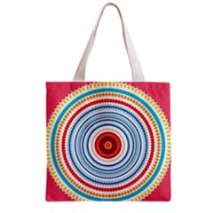 Colorful Round Kaleidoscope Grocery Tote Bag by LalyLauraFLM