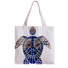 Peace Turtle Grocery Tote Bag by oddzodd