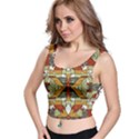 Multicolored Abstract Tribal Print Crop Top View1