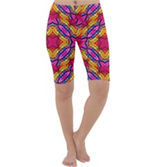 Multicolored Abstract Print Cropped Leggings  by dflcprintsclothing