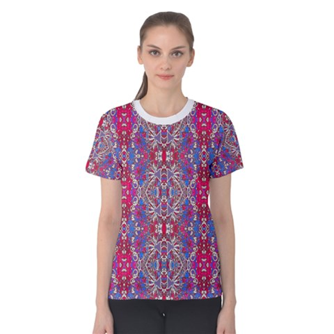 Colorful Ornate Decorative Pattern Women s Cotton Tee by dflcprintsclothing