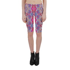 Colorful Ornate Decorative Pattern Cropped Leggings  by dflcprintsclothing